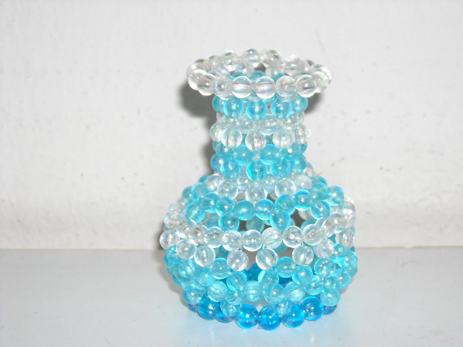 My craftwork collection: My DIY beaded flower vase | Beads/bead ...