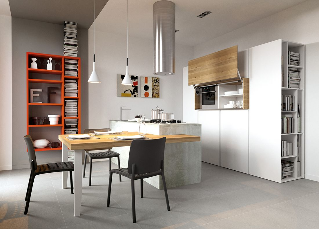 Spazi piccoli? Gestiamoli al meglio integrando cucina e living ...