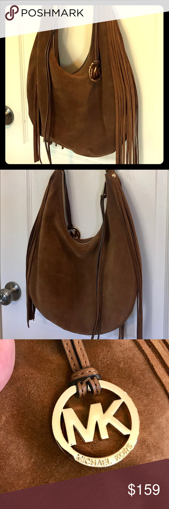 076824b3cd2a Michael Kors Rhea Large Slouchy Suede Leather Bag