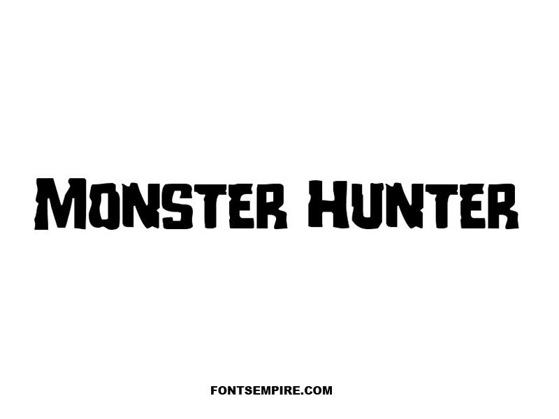 Monster Hunter Font Download Fonts Empire Monster Hunter Monster Hunter