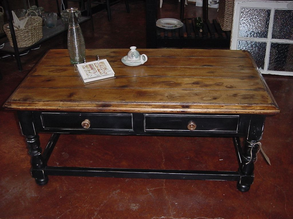 2Drawer SemiMAN CAVE Refinished COFFEE TABLE Living Room