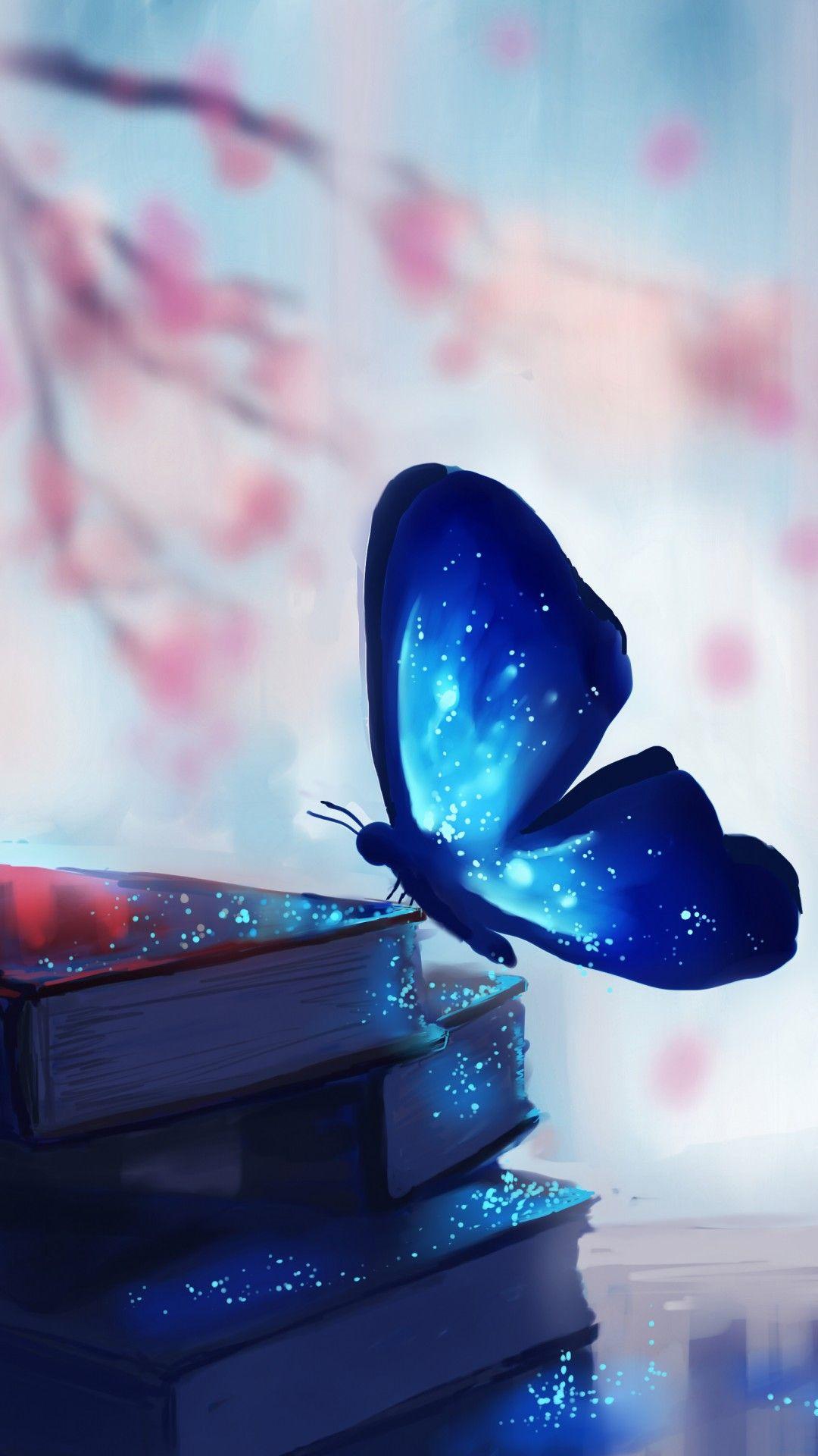 Blue Butterfly Wallpaper Home Screen In 2020 Pretty Wallpapers Pretty Wallpaper Iphone Butterfly Wallpaper