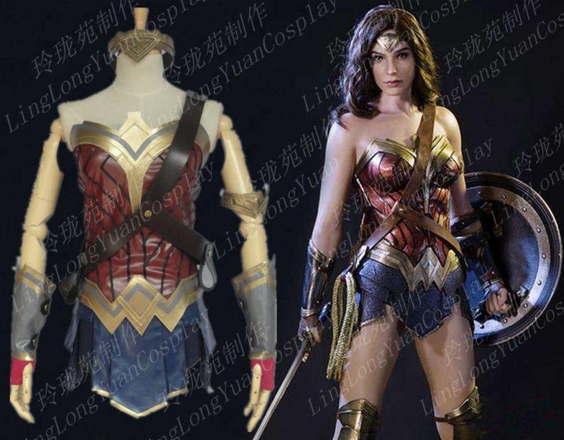 44a57dccf50f19 Batman/Superman Mulher Maravilha Diana Prince Cosplay Fantasia ...