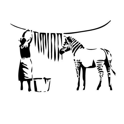 Sticker banksy zebra WLBS14   Stencils/Silk Screen   Pinterest