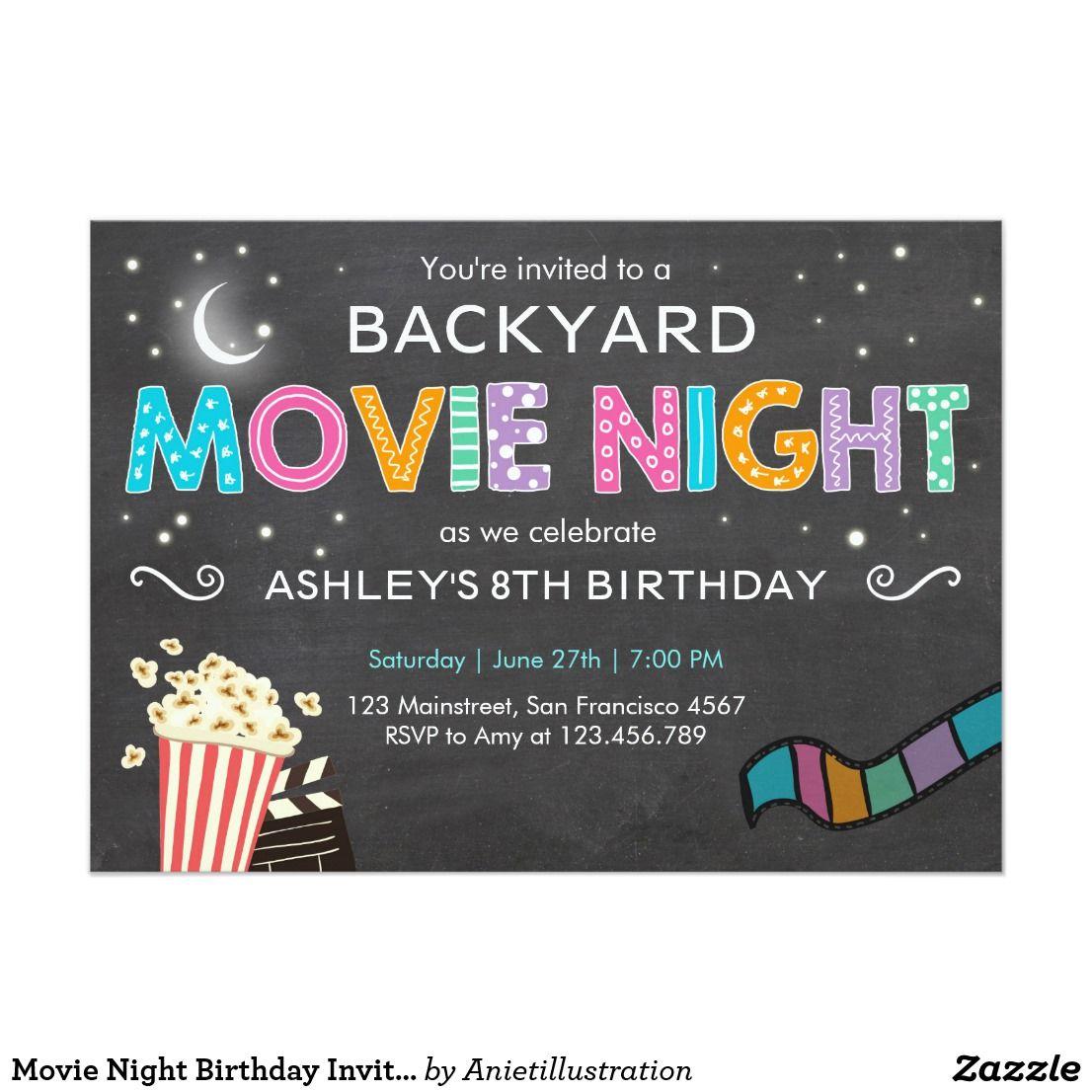 Create your own invitation movie night