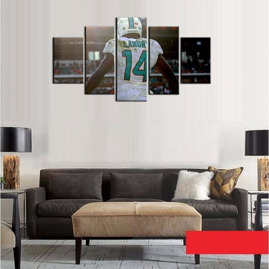 Fashion poster miami dolphins wall art photo for living room decor