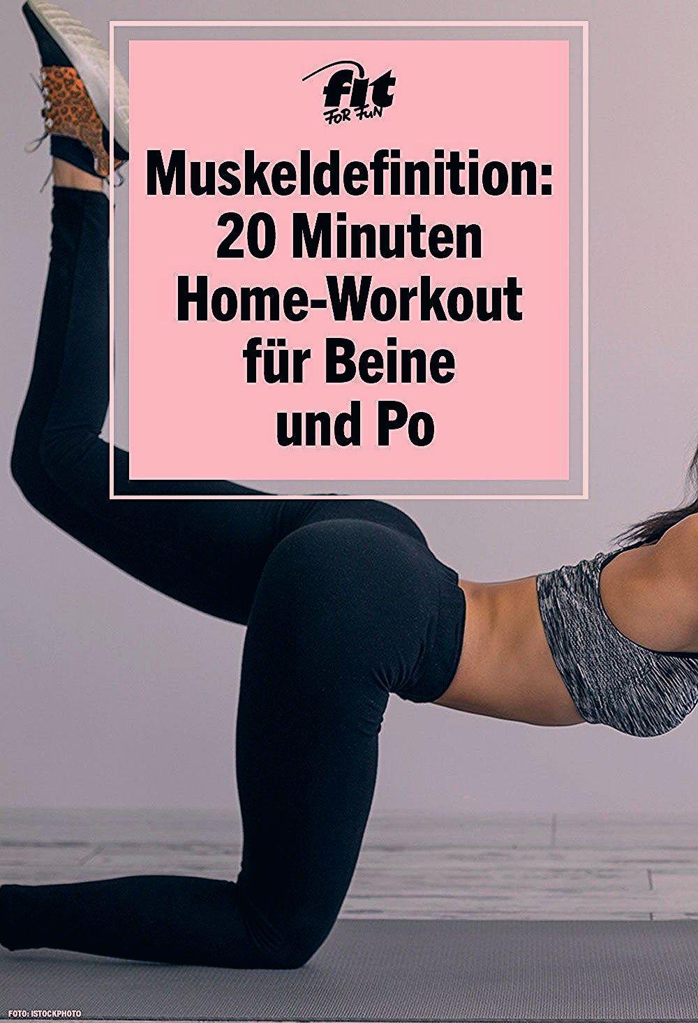 Muskeldefinition: 20 Minuten Homeworkout für Beine und Po mit MadFit