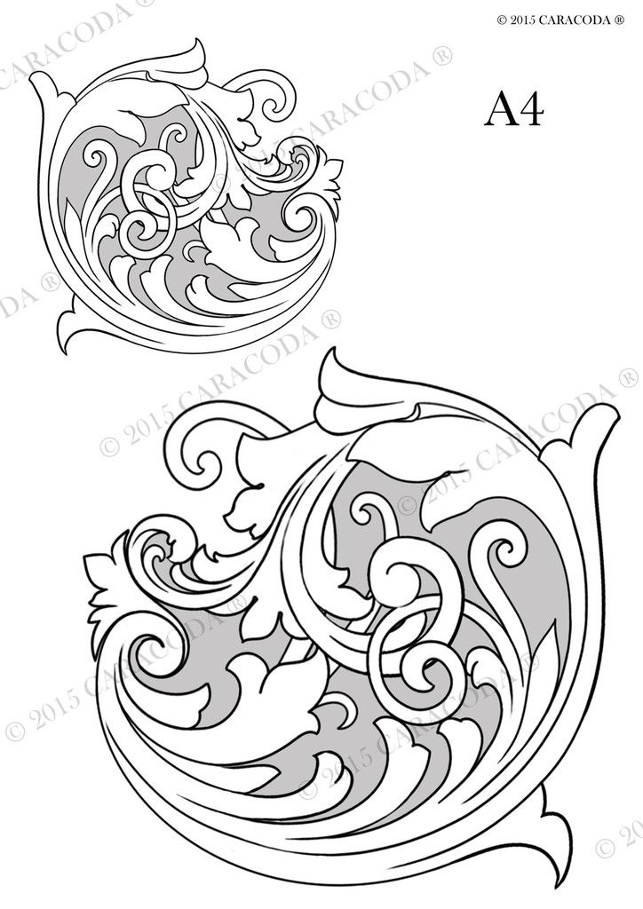 Leathercraft Tooling Pattern Scroll A4 001 Diy She S Crafty