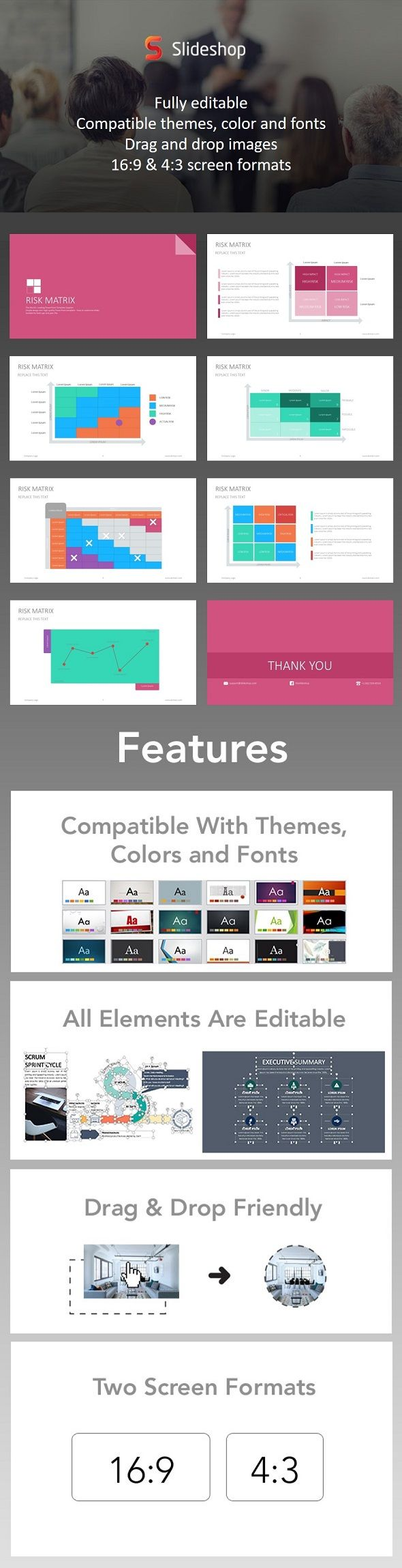 Risk Matrix Google Style  Presentation Templates Template And