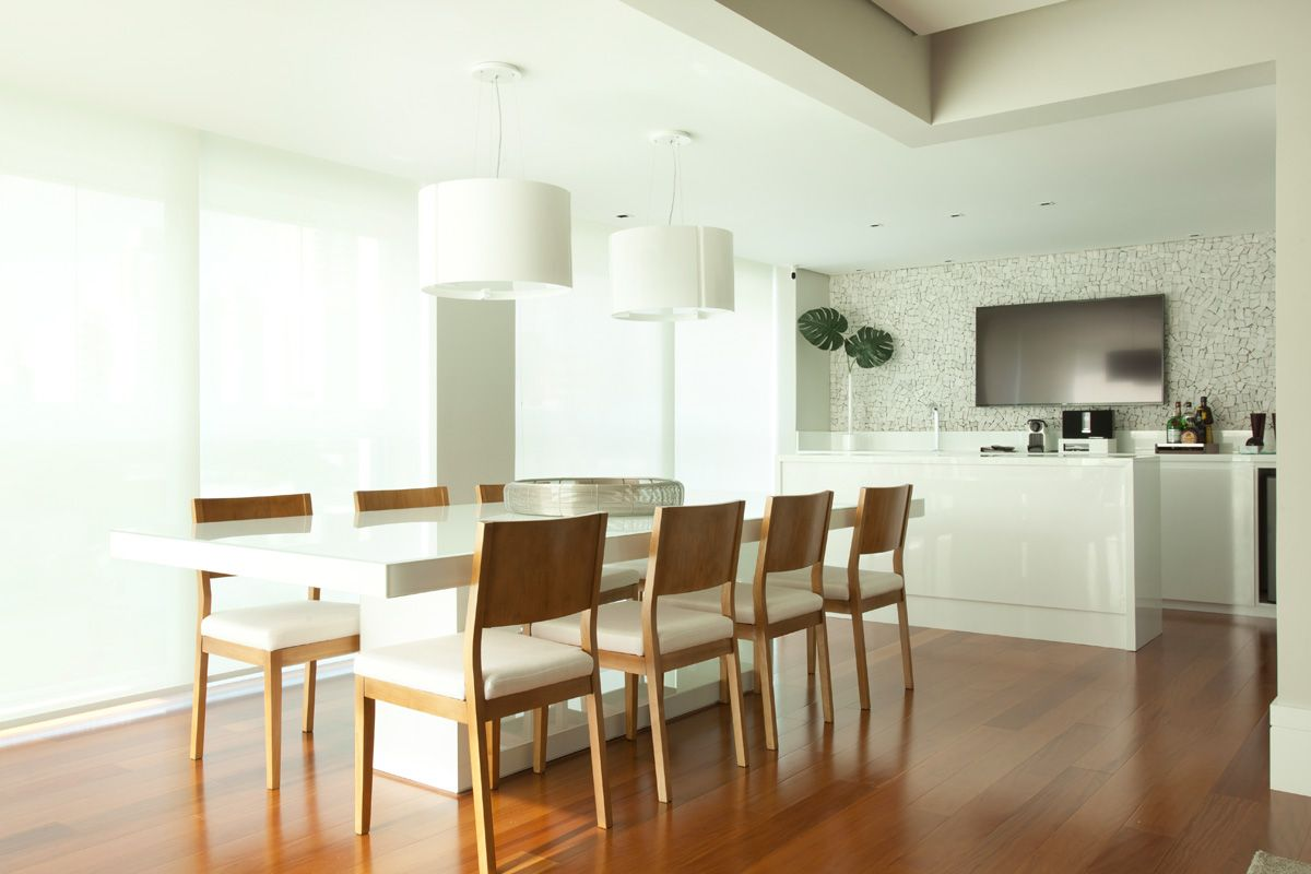 Esta Varanda Gourmet Integrada Cozinha Planejada E Sala De