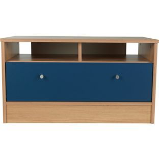 Buy New Malibu Media Unit Blue On Pine At Argos Co Uk Visit Argos Co Uk To Shop Online For Storage Units Children S T Childrens Toy Boxes Toy Boxes Storage