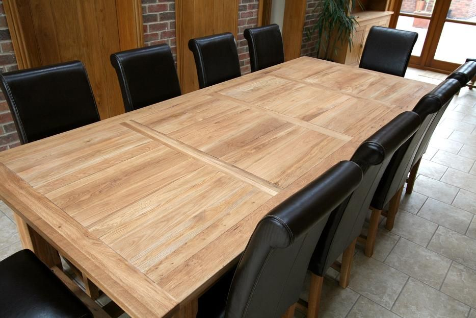 Extra Large Solid Oak Refectory Dining Table 4.