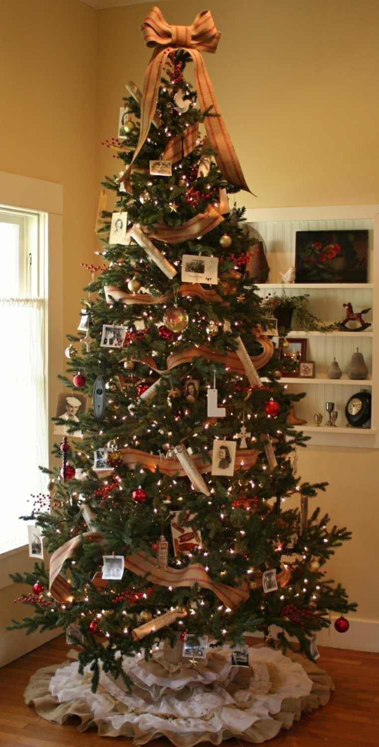 Arbol de navidad decoracion preciosa con lazos Pinterest