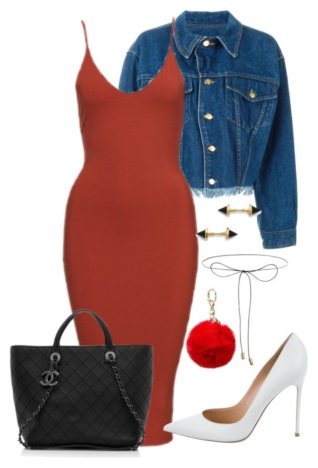 """""""Sem título #509"""" by brunasthefanny ❤ liked on Polyvore featuring Jean-Paul Gaultier, Gianvito Rossi, Lilou, Katie Diamond and Chanel"""