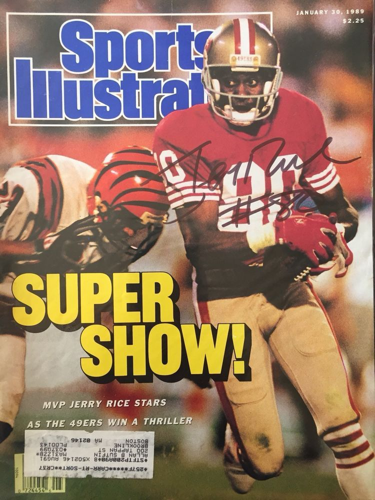02bae9e2686 eBay  Sponsored Jerry Rice Signed Sports Illustrated 1 30 89 Issue SF 49ers  NFL HOF