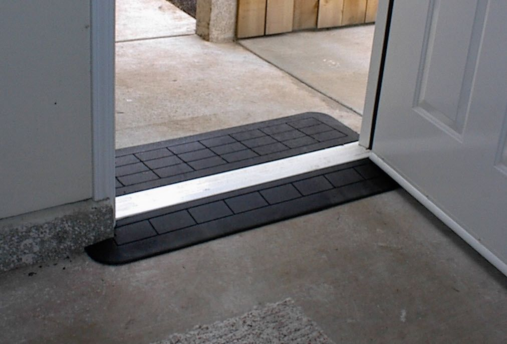 Safe path rubber threshold ramps wheelchair ramps for Wheelchair accessible doorways