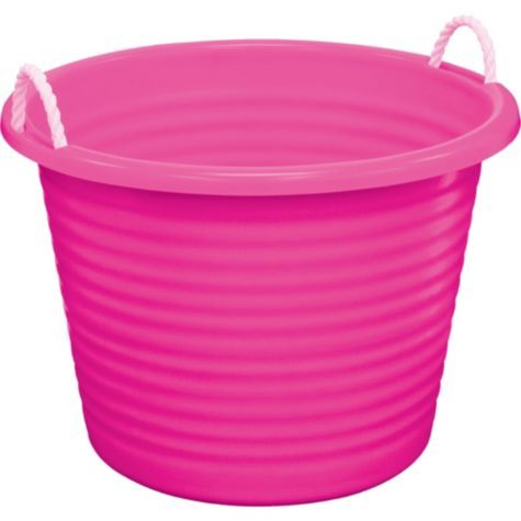 pink plastic tub with rope handles pitchers ice buckets entertaining serving categories. Black Bedroom Furniture Sets. Home Design Ideas