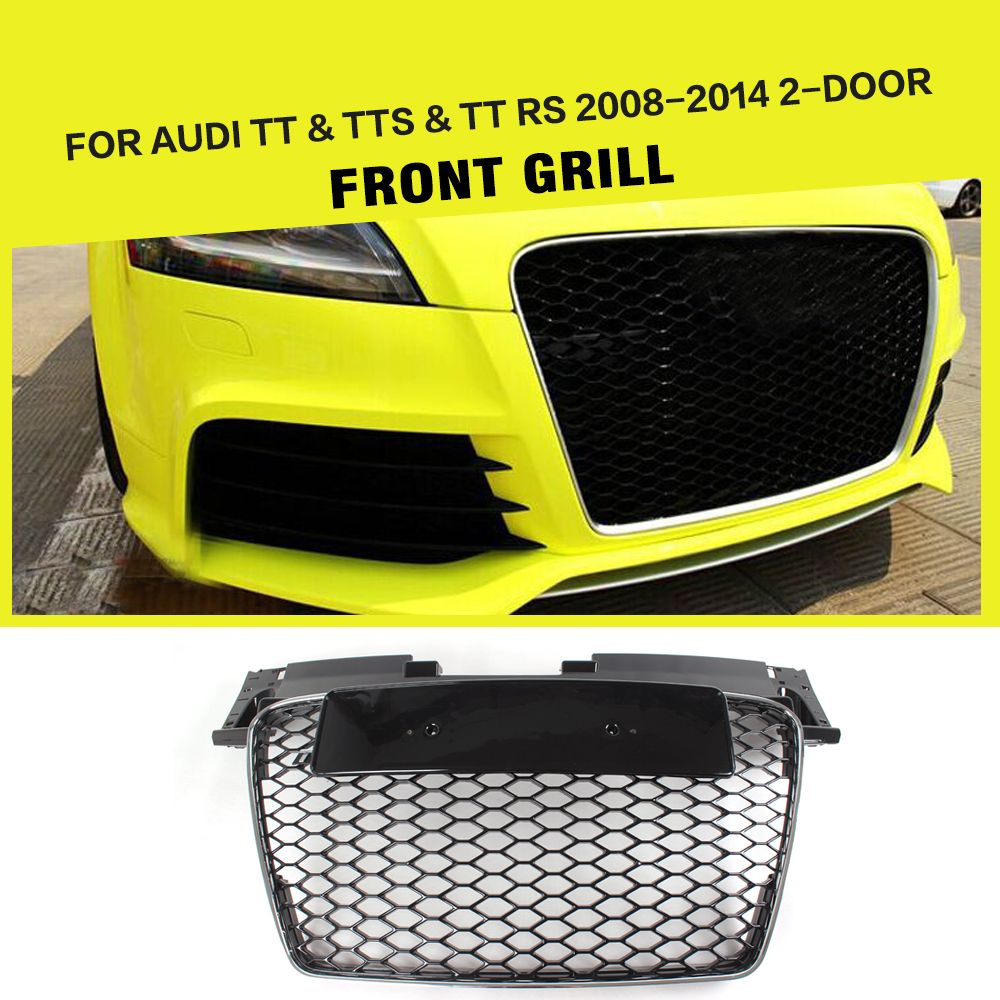 TT RS CarStyling ABS Black Car Front Bumper Grille Grill