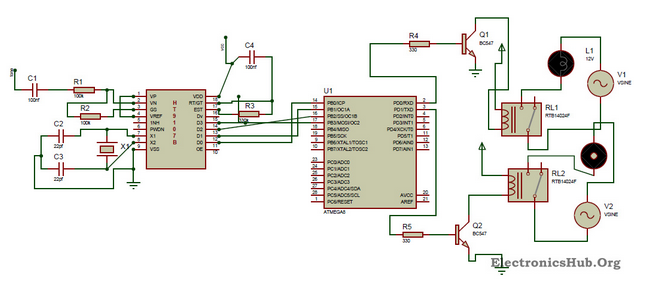 circuit diagram of dtmf controlled home automation system free rh pinterest com home automation diagram icons home automation lighting wiring diagram