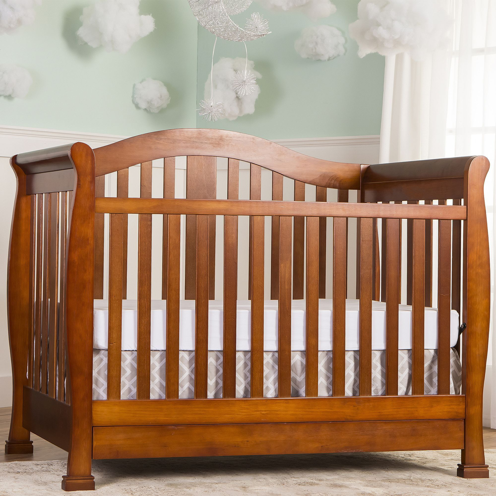 dream on me addison in convertible crib with storage brown  - dream on me addison in convertible crib with storage brown