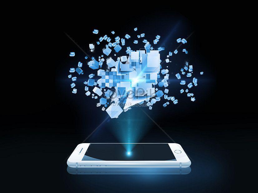 تكنولوجيا الهاتف المحمول التي تعمل باللمس Science And Technology Decor Image