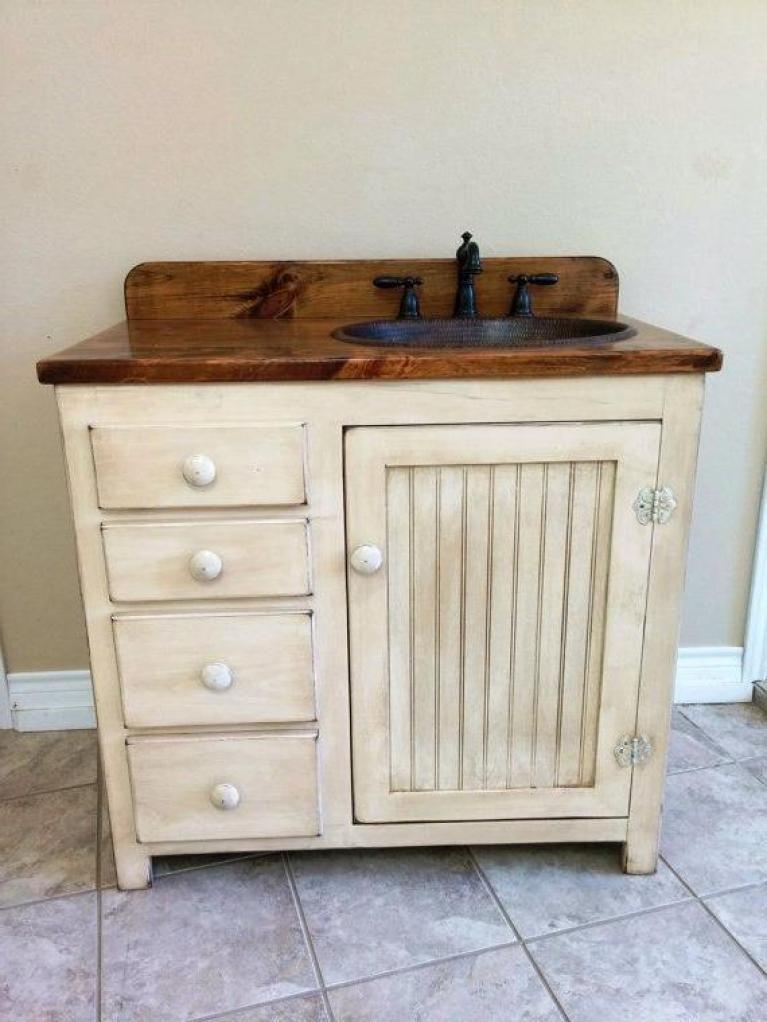 Antique Pine Bathroom Cabinet Ideas 18 #bathroomcabinets - Antique Pine Bathroom Cabinet Ideas 18 #bathroomcabinets Bathroom