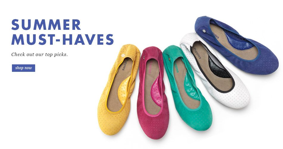 Top Picks from Hush Puppies: Chaste in 20 different colors!