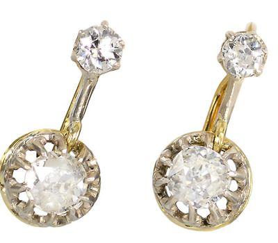 Swing This Way: Art Deco Diamond Earrings - The Three Graces