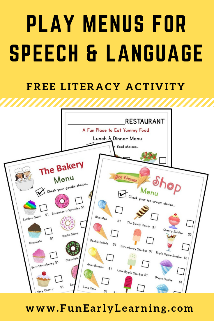 Play Menus For Speech And Language Development Speech And Language Play Menu Language Development [ 1102 x 735 Pixel ]