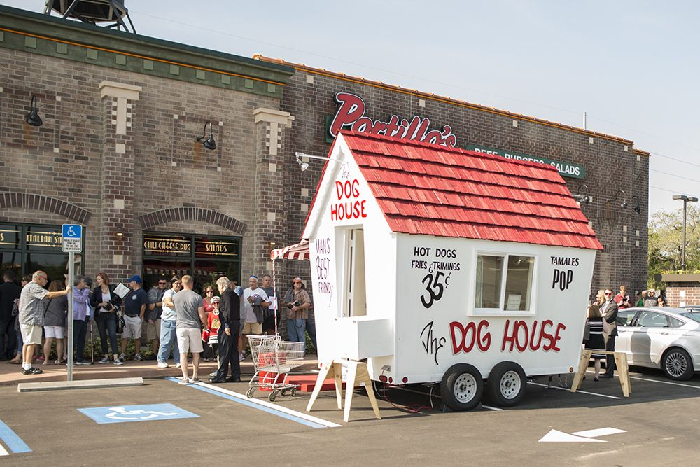 The Dog House On Display At The Grand Opening Of Portillo S