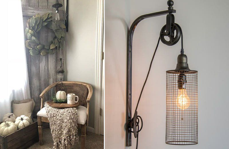 Industrial Inspired Wall Sconce Farmhouse Charm Shed Some Light On Your Farmhouse Decor Www Decorsteals Cage Wall Sconces Sconces Decorative Wall Sconces