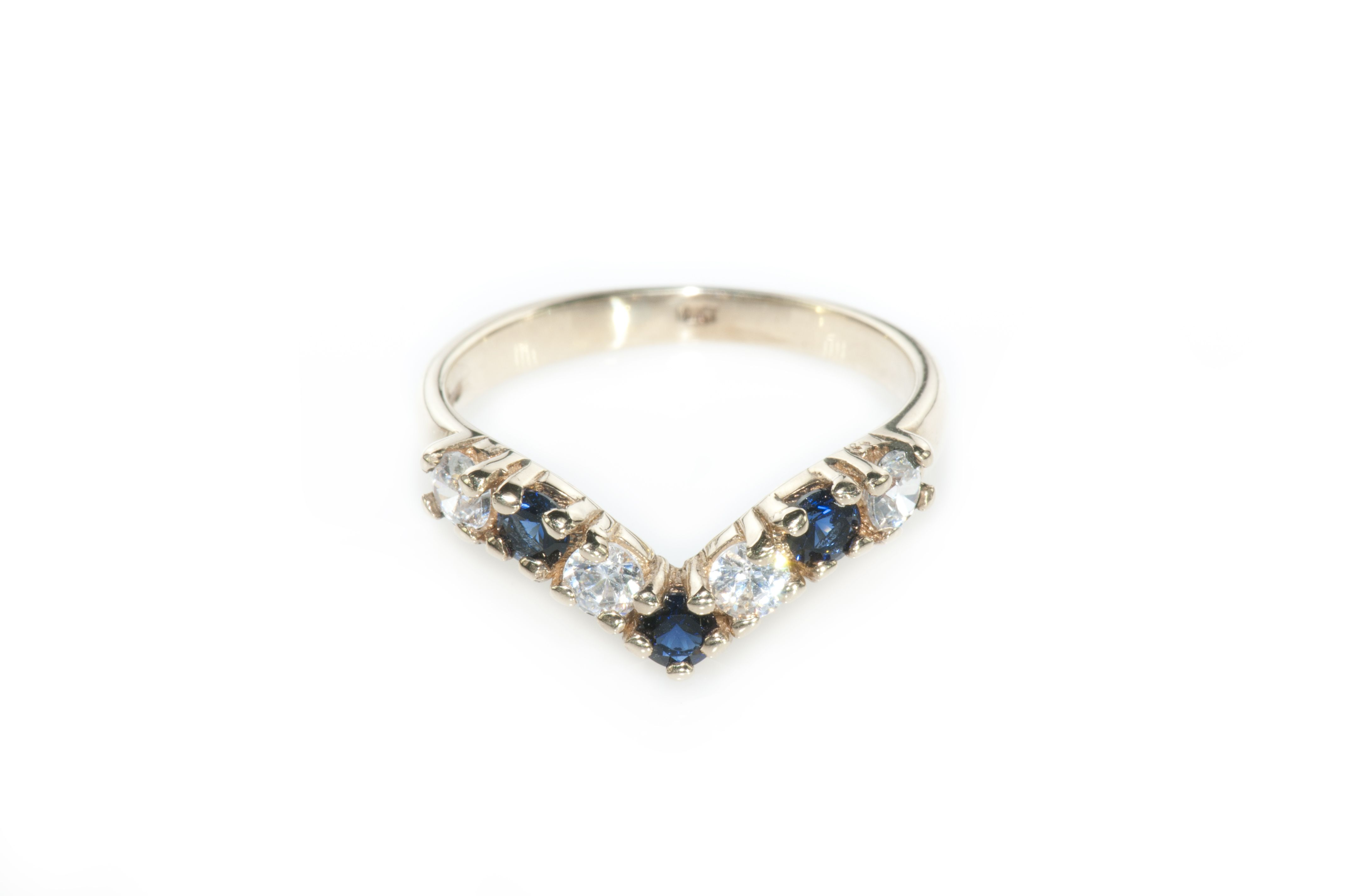 Princess Diadem - vintage gold sapphire & zircons ring. Princess ...