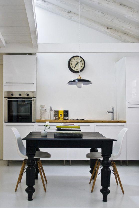 6 cocinas elegantes en blanco y negro Elegante en blanco, Elegante - cocinas elegantes