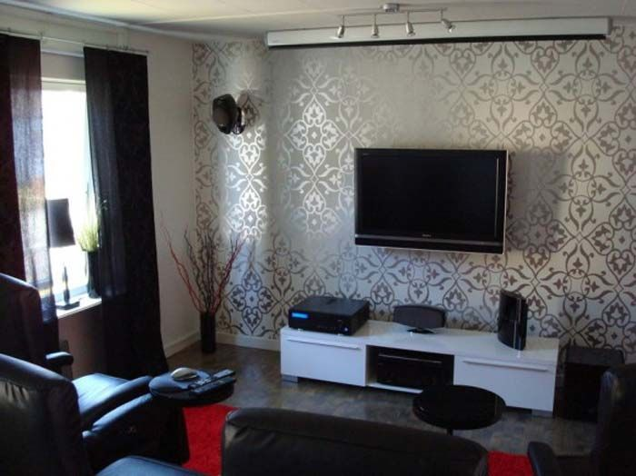 Home Theater Living Room Layout Set Up Wallpaper Living Room