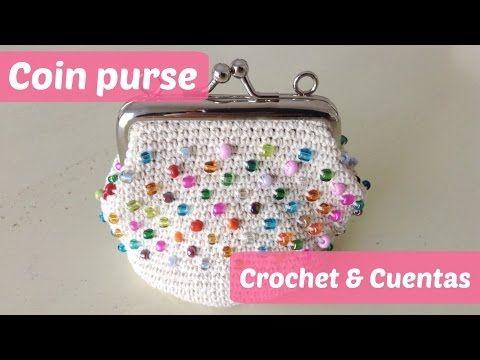 Monedero a crochet con piedras multicolor - YouTube TEJIDOS