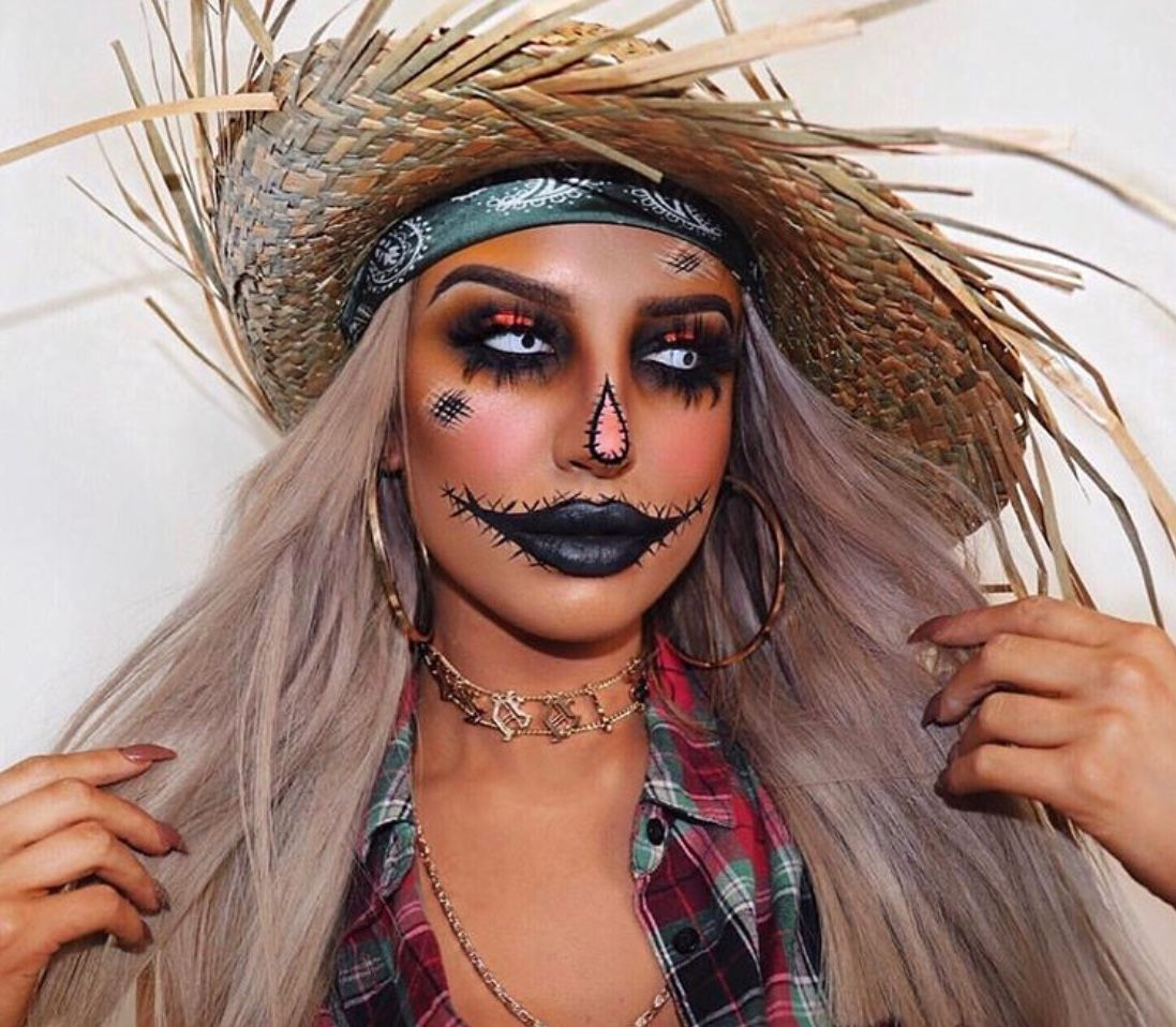 40+ Scarecrow Makeup Ideas For Halloween The Glossychic