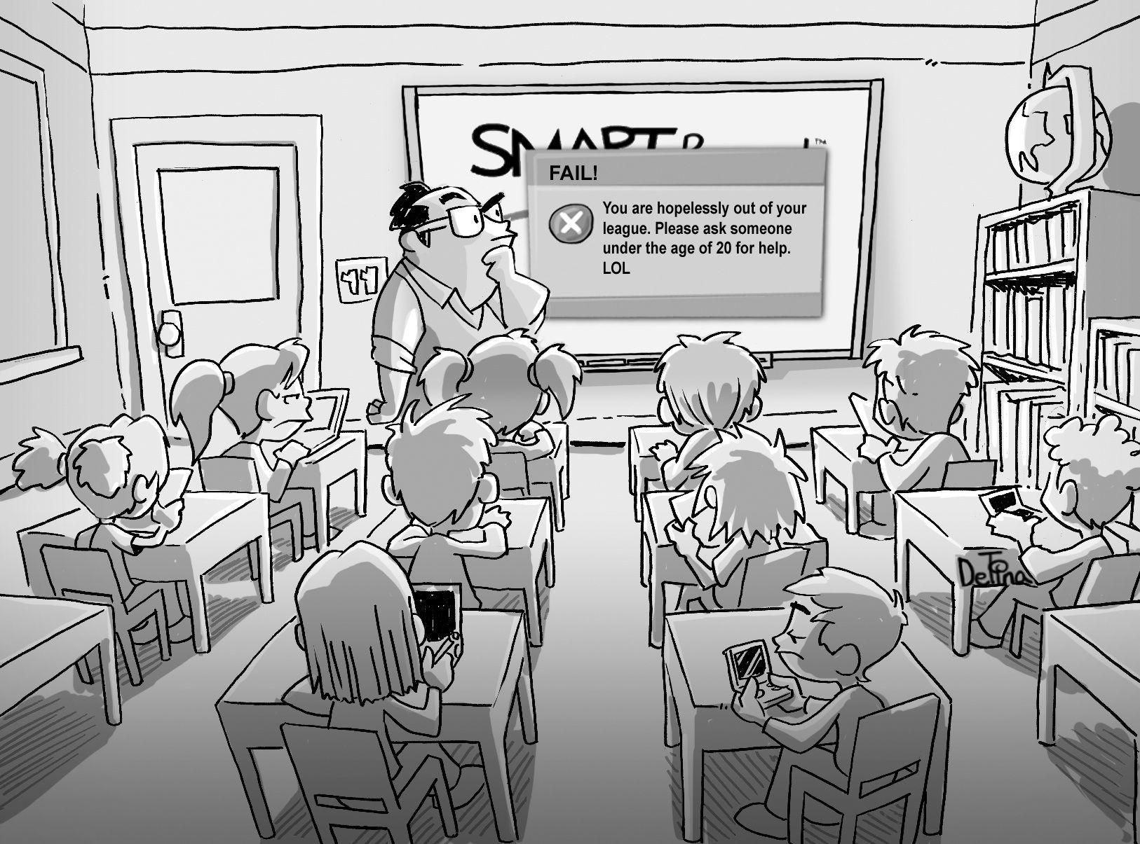 heißer Lehrer Cartoon
