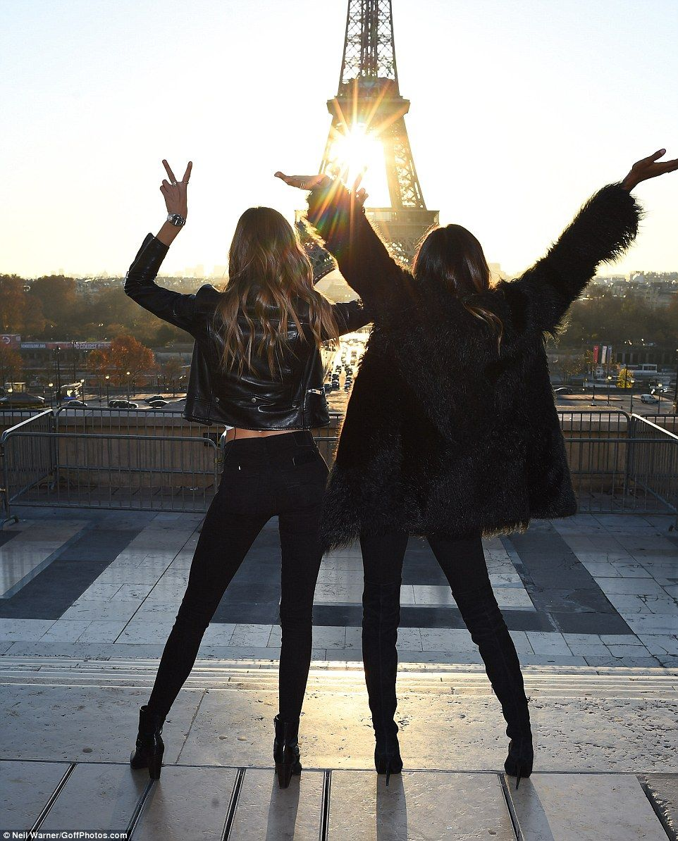 Victoria's Secret Angels jump for joy