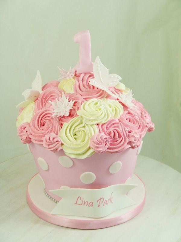 First Birthday Giant Cupcake Giantcupcake Second Birthday Cakes Cupcake Smash Cakes Giant Cupcakes
