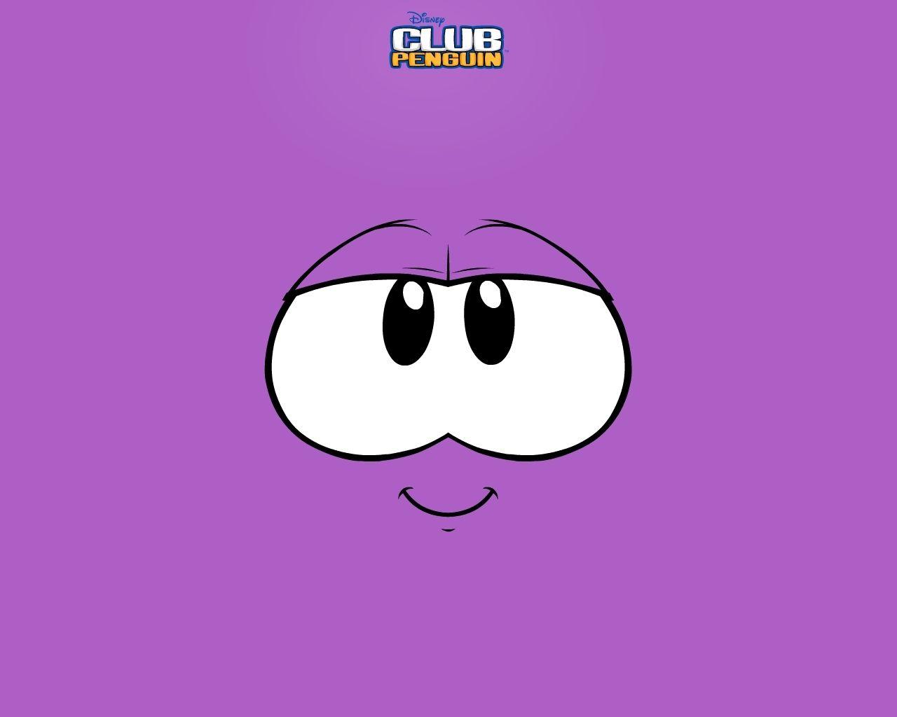 New Club Penguin wallpaper – Purple Puffle Face | Videojuegos