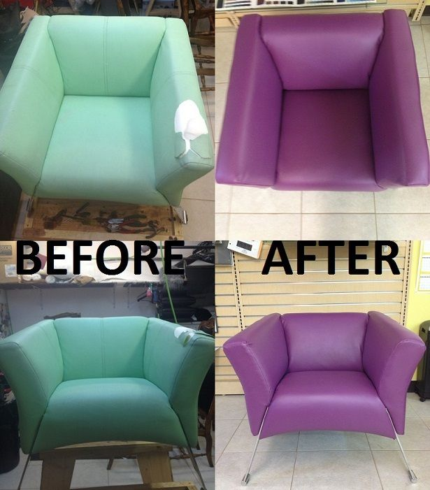 Reupholstered chair that will, definitely, stand out in every household.