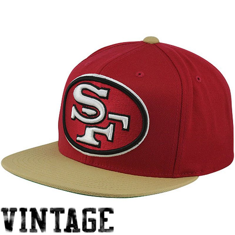 286f6e2fd65 Mitchell   Ness San Francisco 49ers Throwback XL Logo 2T Snapback Hat -  Scarlet Gold