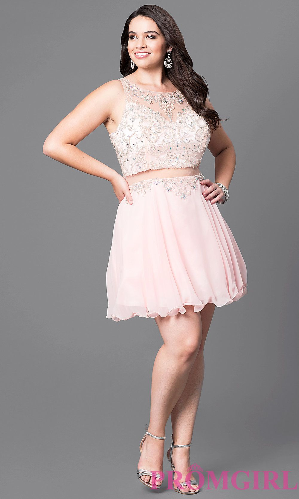 92ee22ed4d7 Style  DQ-9550P Detail Image 1 Two Piece Homecoming Dress