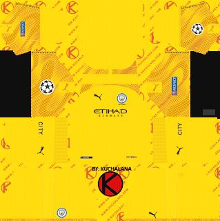 Manchester City 2019 2020 Champions League Kit Dream League Soccer Kits Manchester City 2019 2020 Champions Lea Soccer Kits Manchester City Goalkeeper Kits
