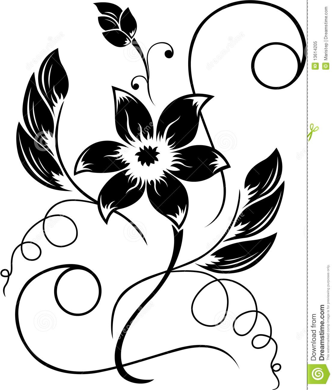 17 Best images about Flower Drawings on Pinterest | Royalty free ...
