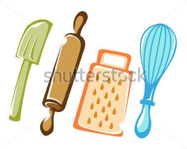 Baking utensils color utensilios para panader a for Instrumentos para cocina