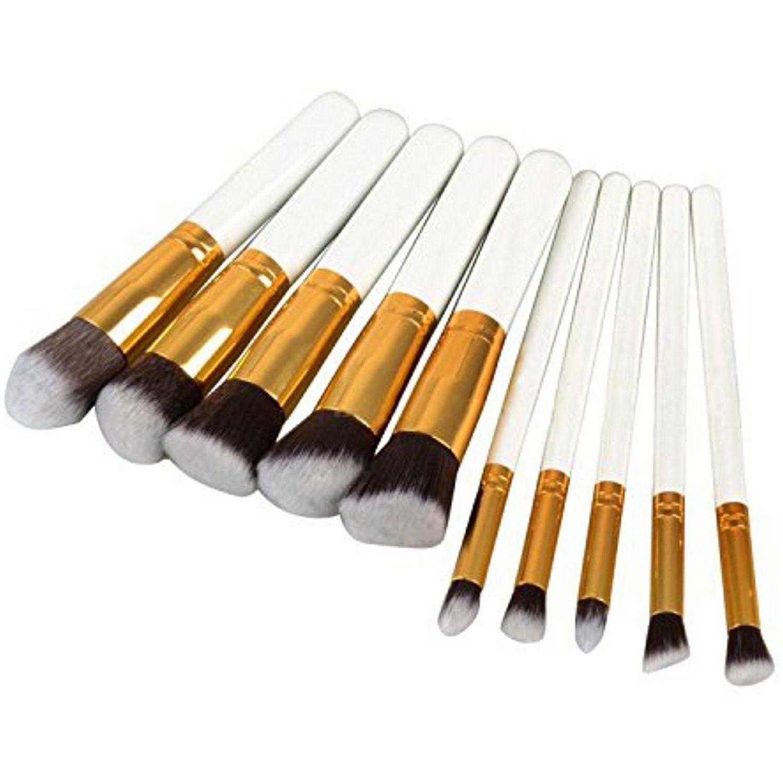 10 Pcs Professional Makeup Brush Set Synthetic Soft