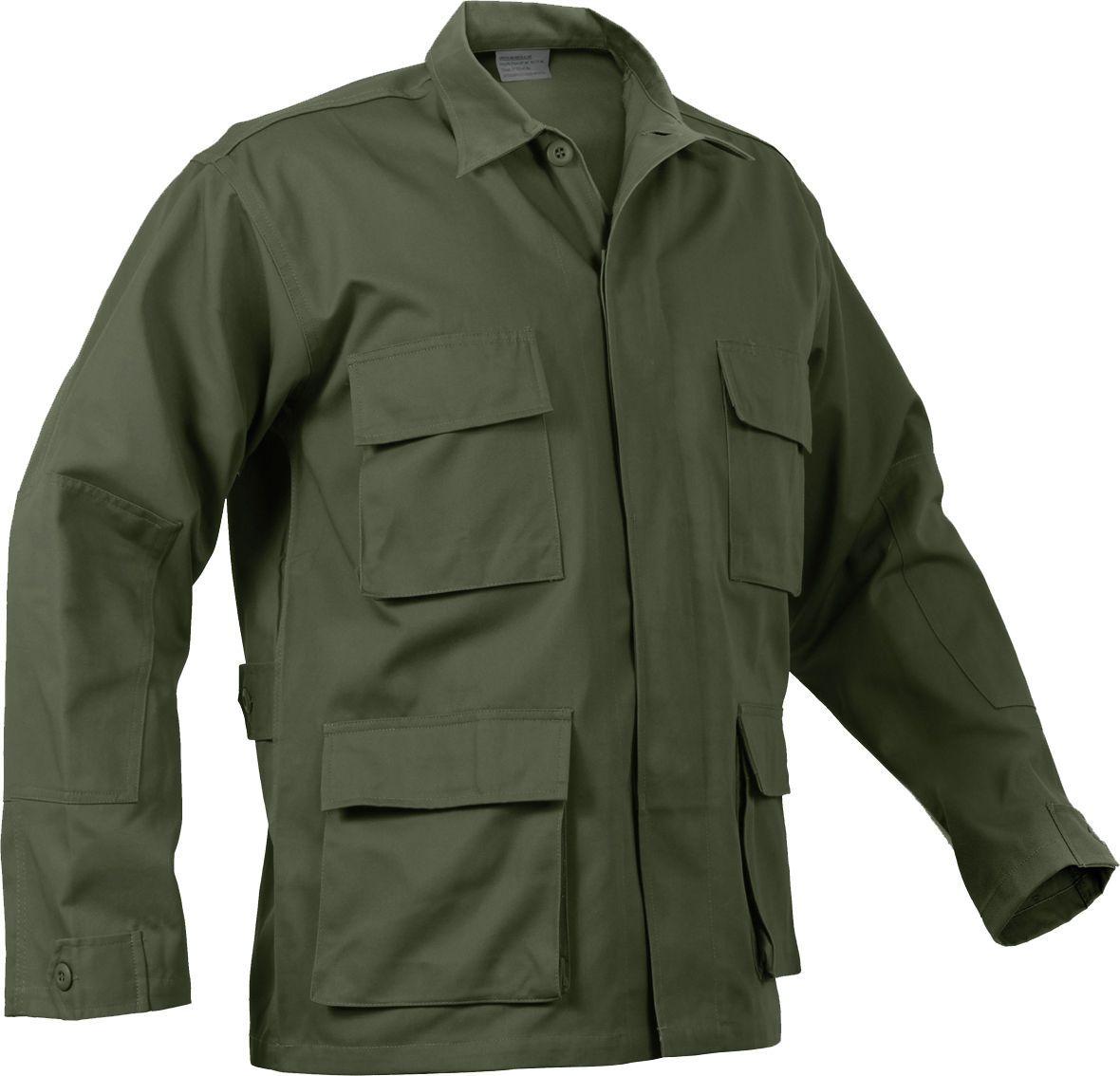 Mens Olive Drab Long Sleeve Military Bdu Shirt Coat Uniform Army Fatigues  Army Navy Store 0667d9d4b01