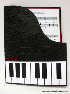 Creations by Patti: Piano Birthday Card