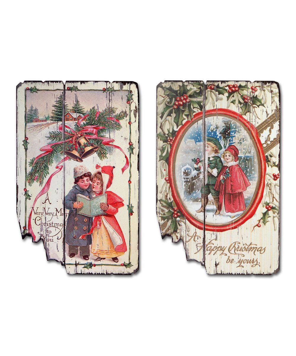 Look at this Christmas Wall Art Set on #zulily today!